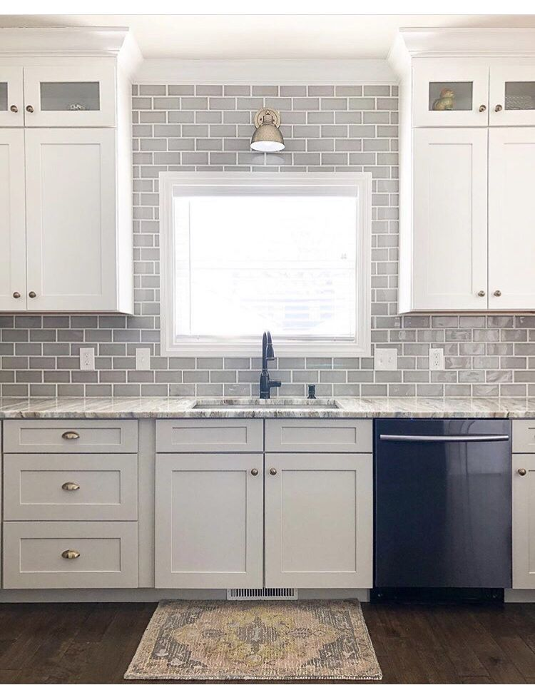 Grey Subway Tile Kitchen