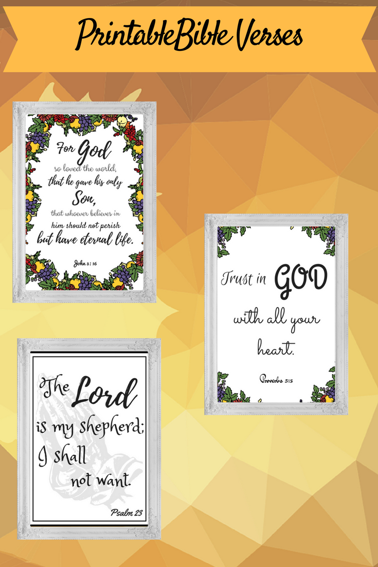 Three (3) Printable Bible Verses Wall Art #bibleverse #printable ...