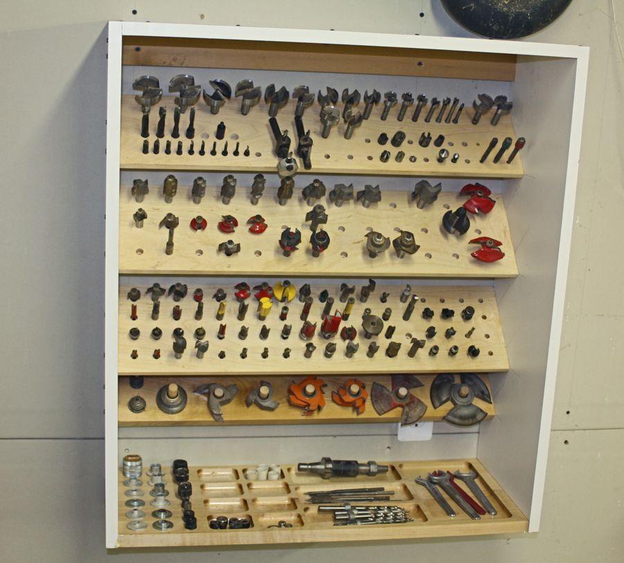 router bit storage cabinet build werkzeug pinterest werkstatt werkzeuge und holzarbeiten. Black Bedroom Furniture Sets. Home Design Ideas