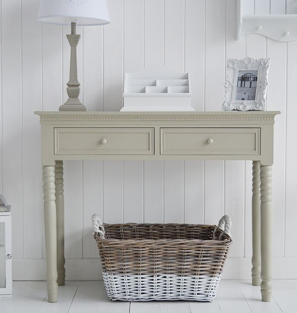 French grey hall console table ideas for new england for Hallway furniture ideas