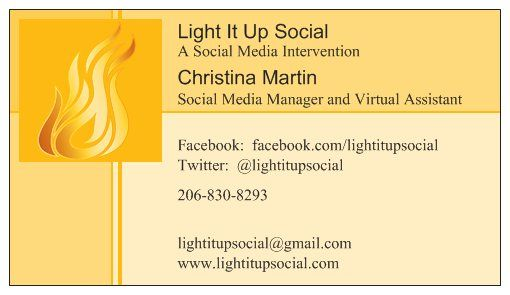 Light it up social business card come like us on facebook light it up social business card come like us on facebook colourmoves