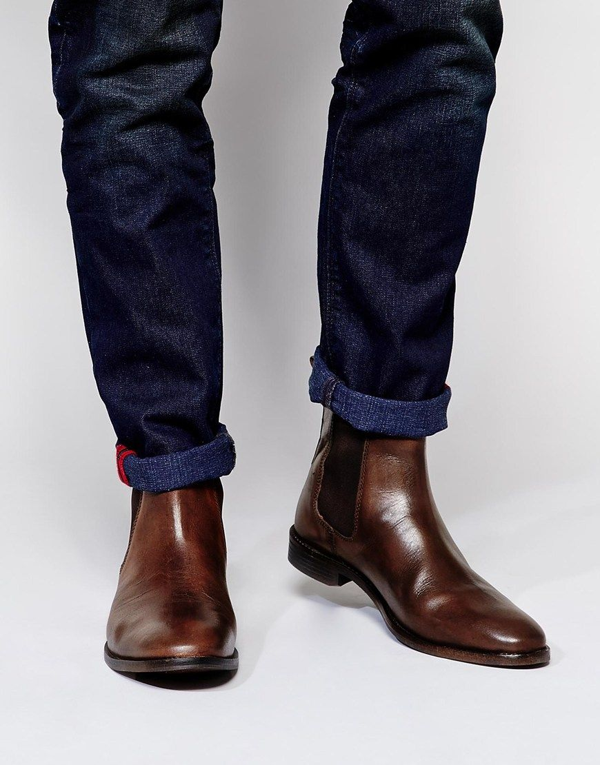 Image 1 of ASOS Chelsea Boots in Leather 0f835258c