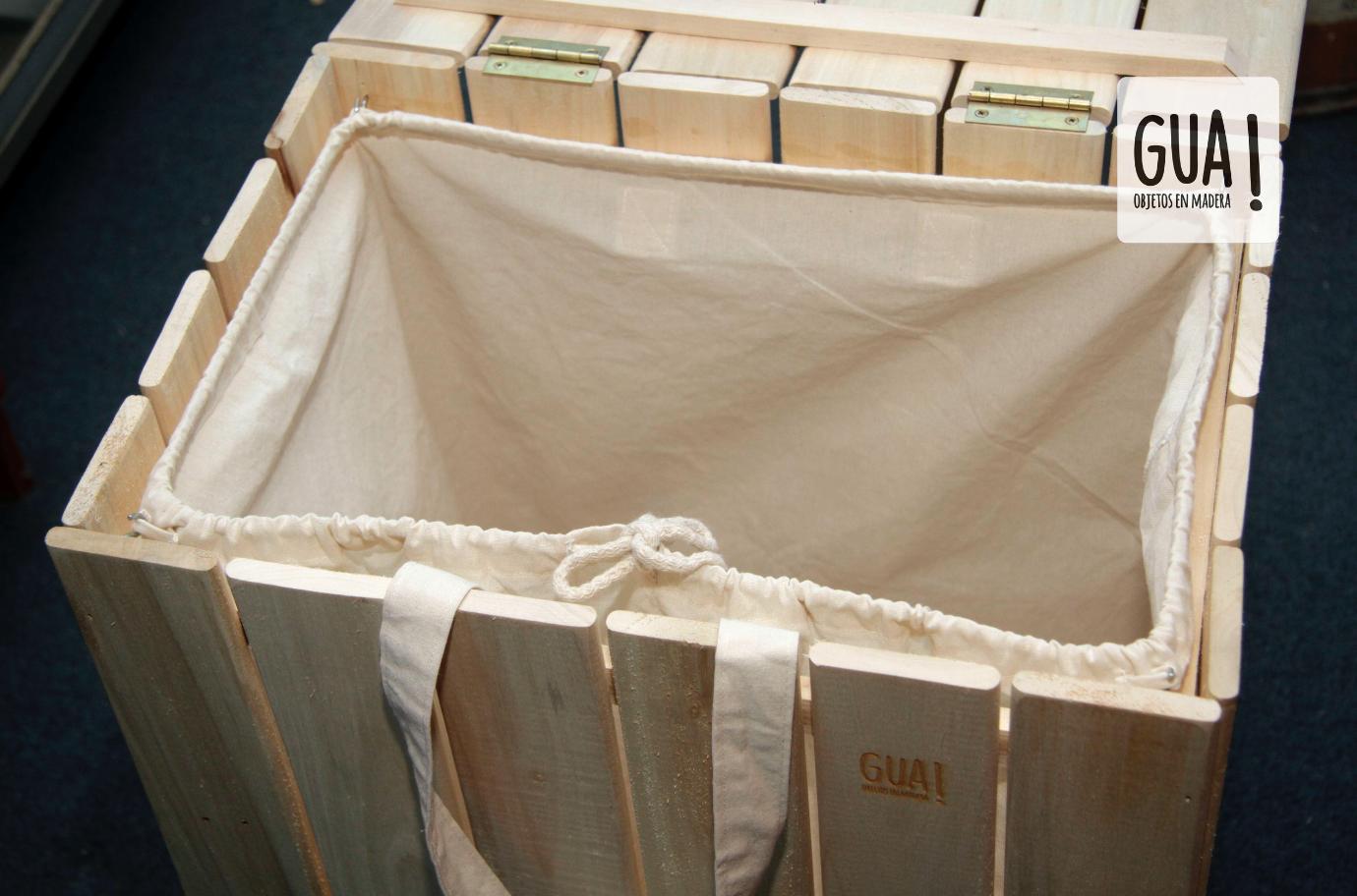 Cesto para ropa en madera maciza. medidas: Ajaka 43 x 60 x 31 Largo ...