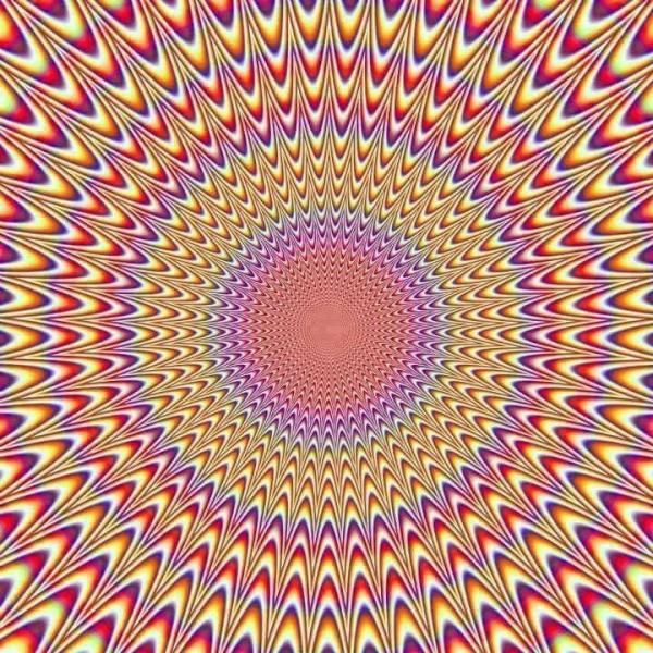 How are patterns that look like they're moving created?