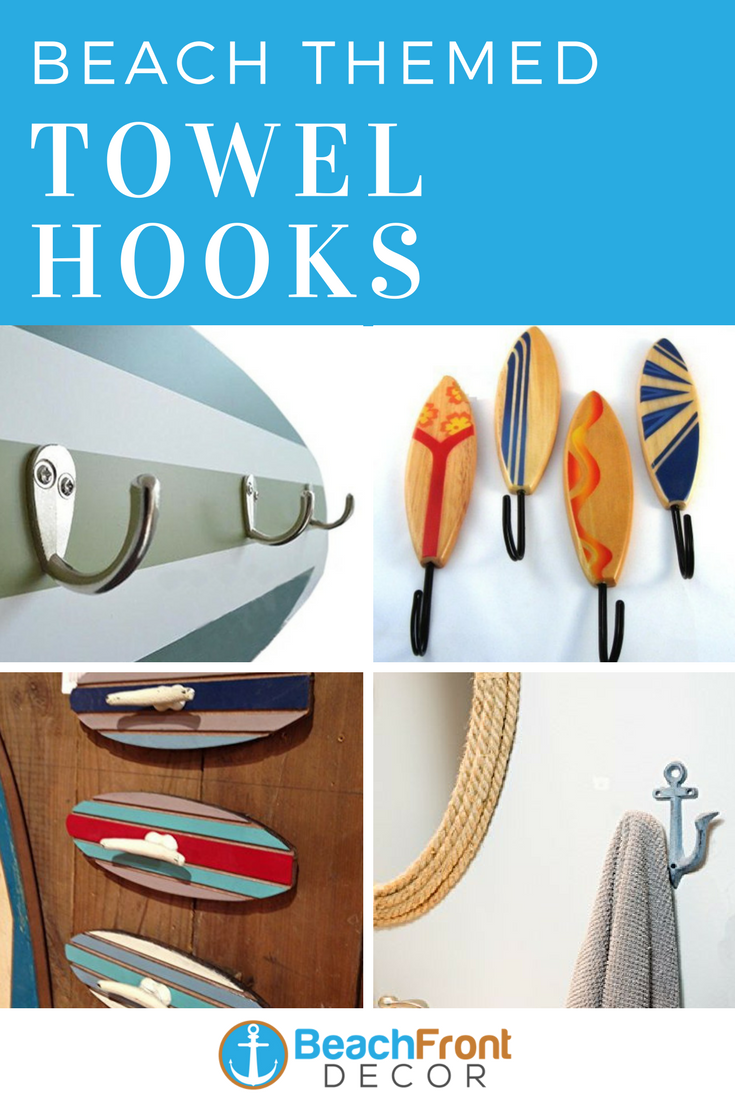 Beach Wall Hooks Beach Towel Hooks Beachfront Decor Towel Hooks Beach Wall Decor Wall Hooks
