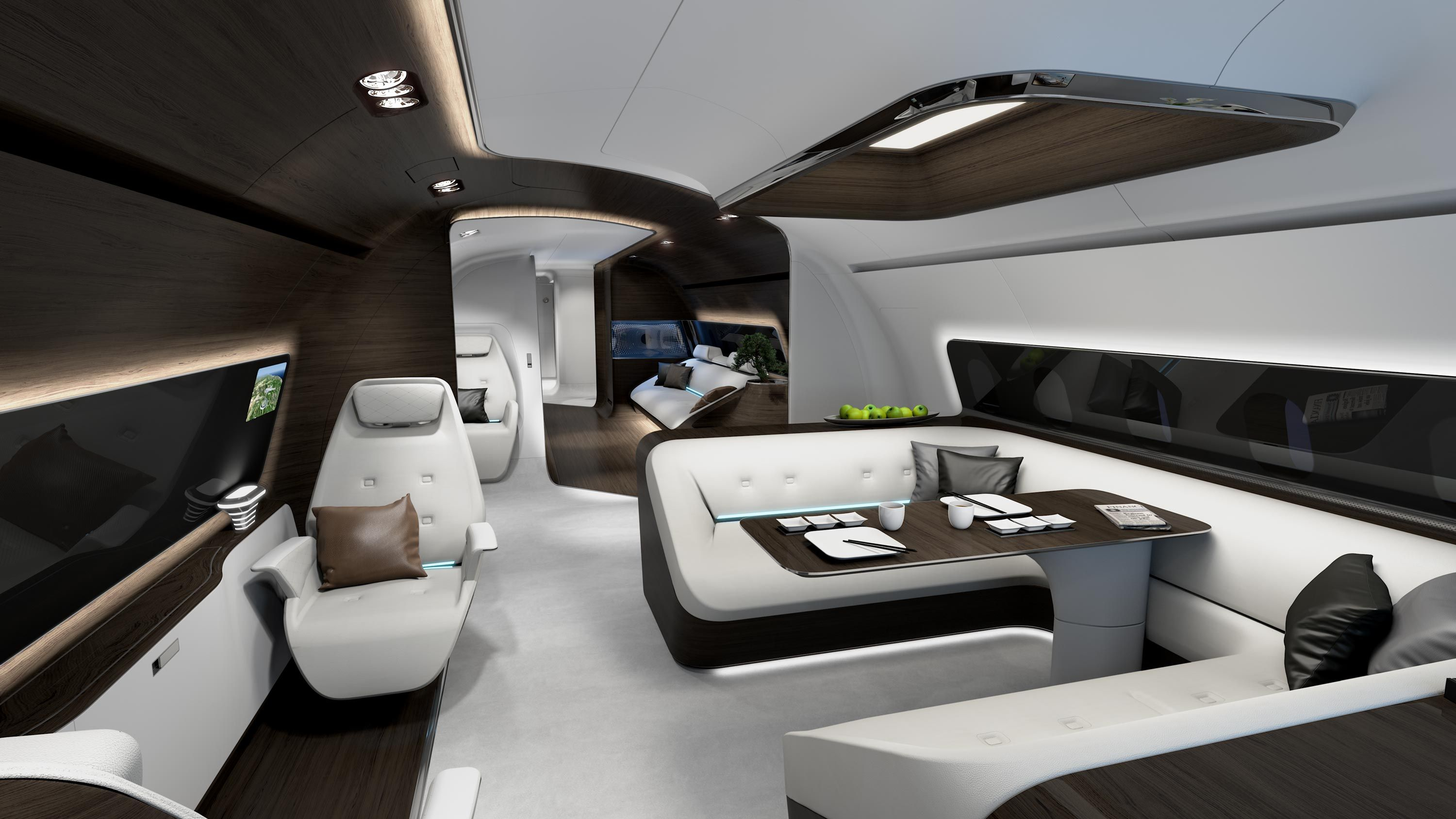 Gulfstream g650 interior bedroom mercedes goes in the air for the modern jetsetters  private jets