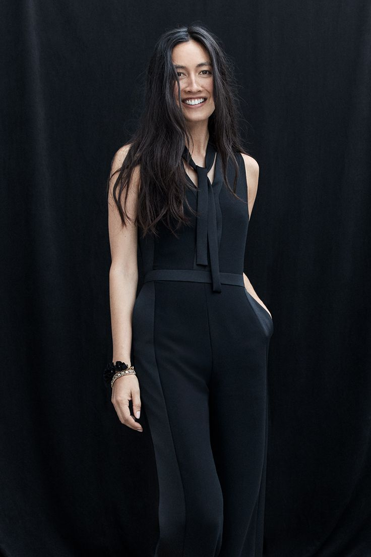 1a82a3f9e2c2 This effortless tuxedo-detail jumpsuit from Banana Republic is getting us  through the holidays.  ad