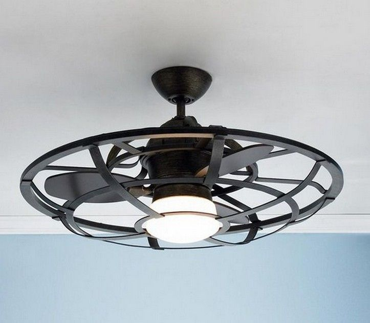 Industrial Cage Ceiling Light Fixture Home Decor