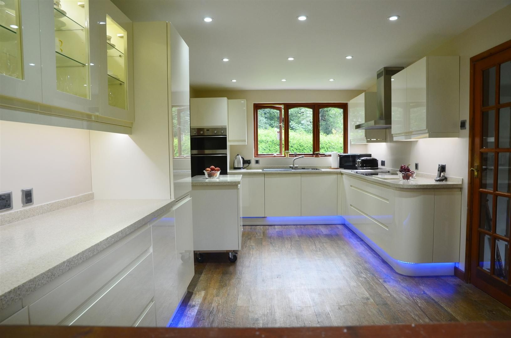 Energy efficient LED downlights combined with colour ...