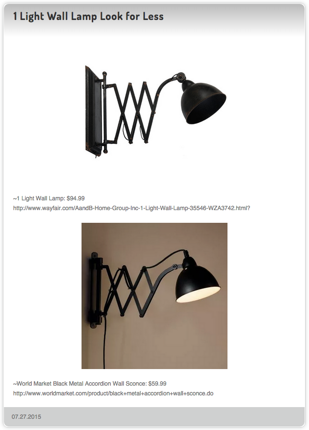 1 light wall lamp 94 99 vs world market black metal accordion wall sconce 59 99