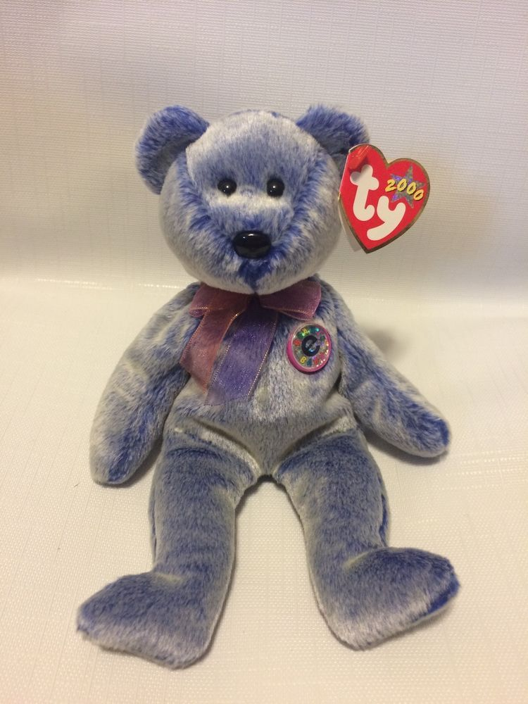 f4cba051e22 NWT Original  Periwinkle  Bear Beanie Baby w  Errors and Specialities  TY