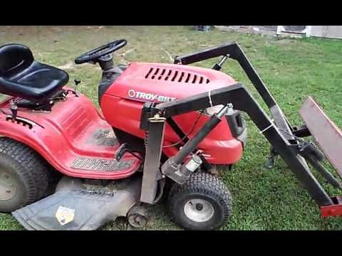 Electric Bucket Loader Details Youtube Garden Tractor Attachments Tractor Idea Lawn Mower Tractor