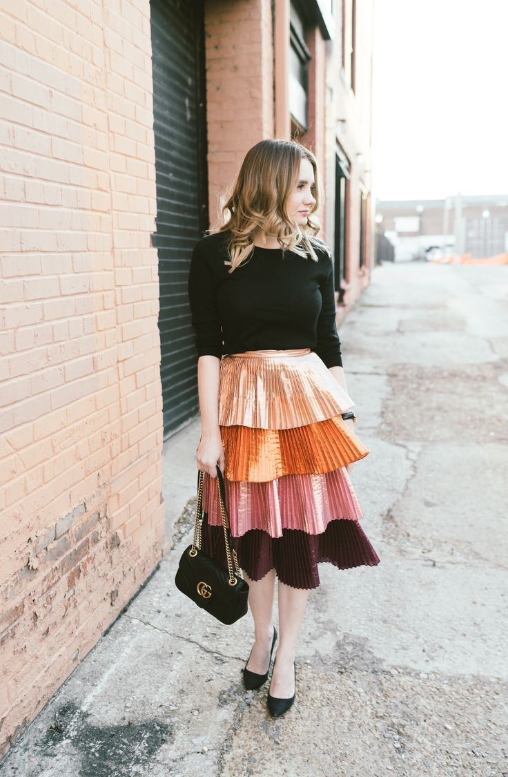 Fun Metallic Skirt + Giveaway for (2) $500 Paypal Cash – Pretty in Pink Megan Trendy Outfits