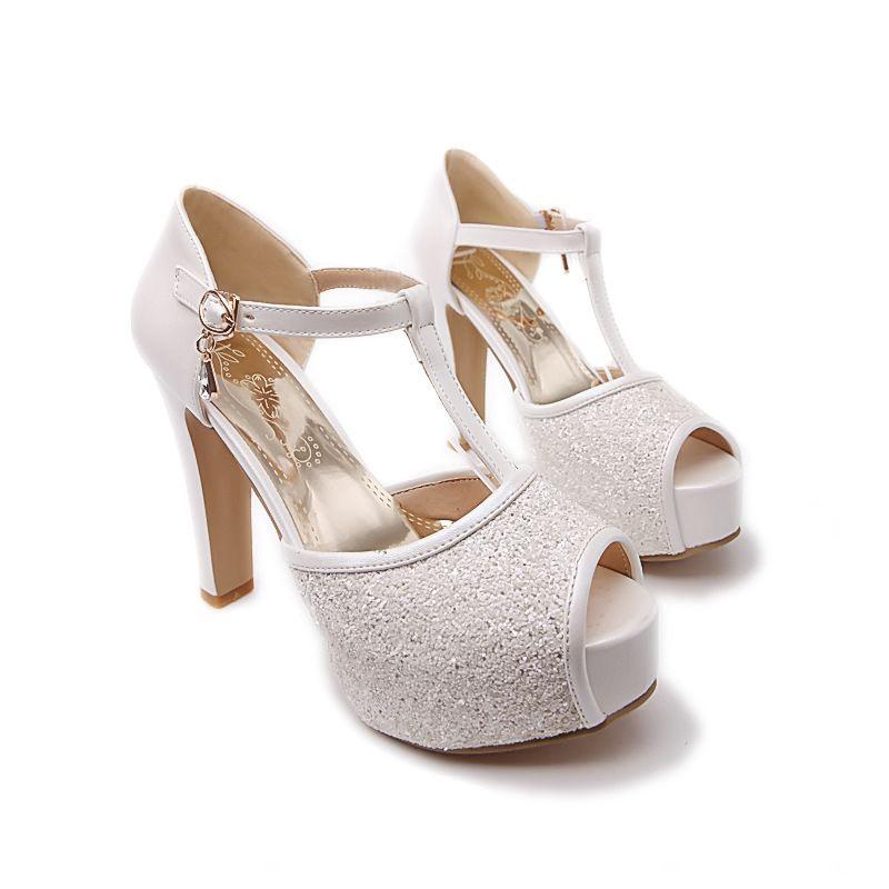 ee8aa4578de57 High-heeled sandals fish head high heels QQ1208BH | Formal Events ...