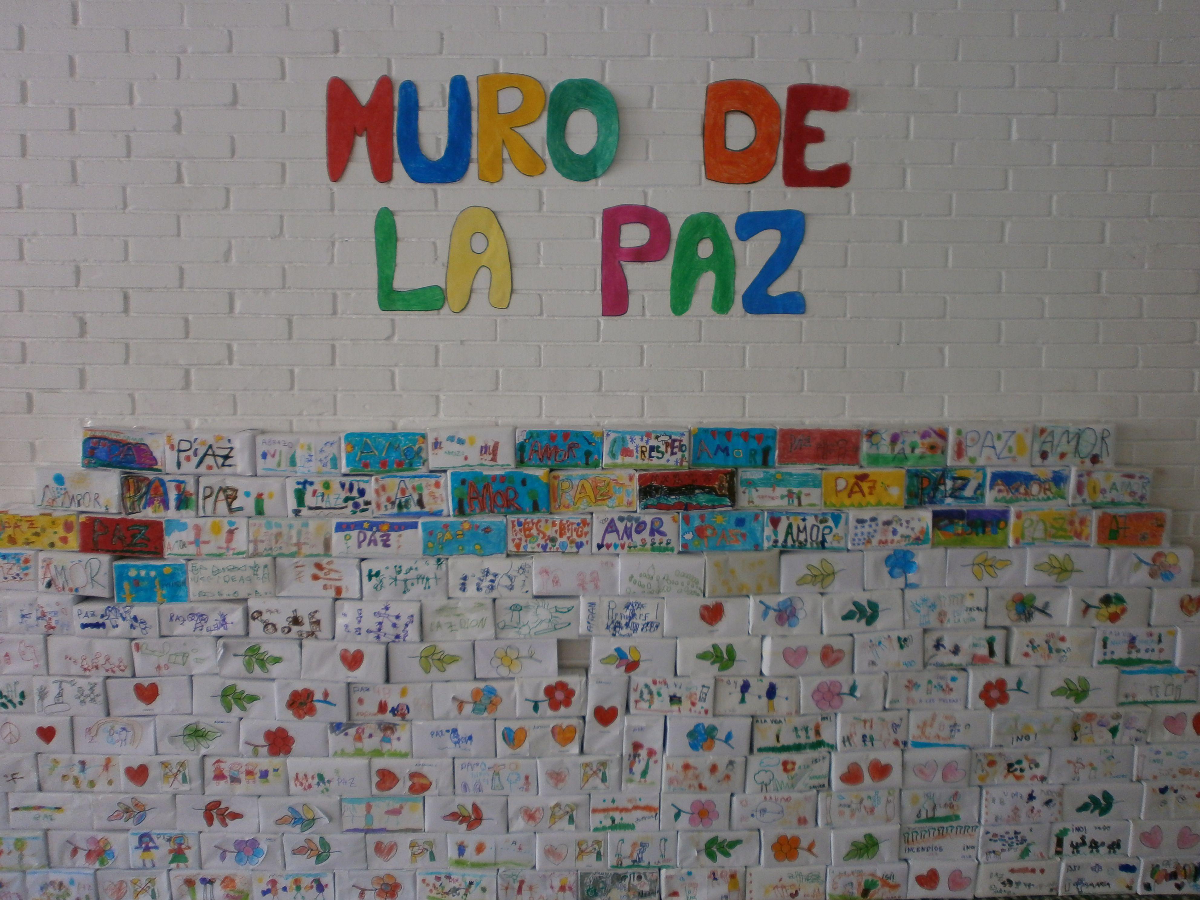 Mural Muro De La Paz Dia De La Paz Paz Mural