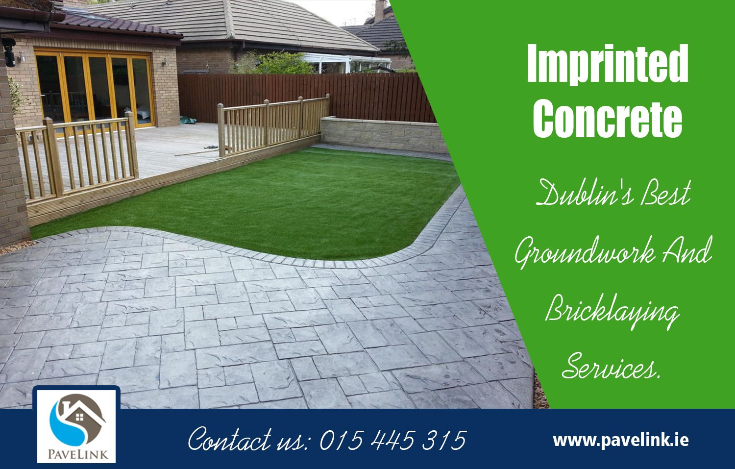 The area of freshly poured Concrete Driveways Dublin to