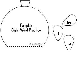 Pumpkin Themed Sight Word Practice from Making Learning