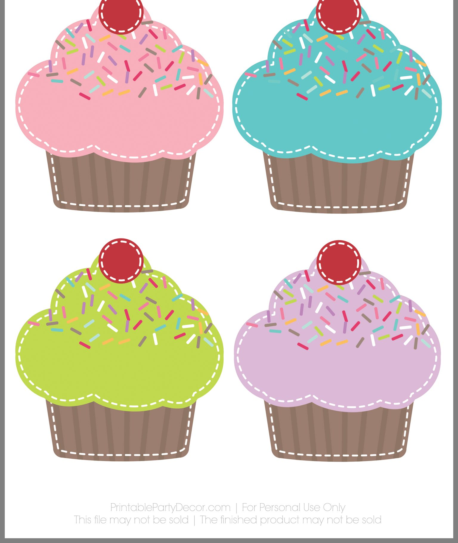 photograph about Cupcake Printable referred to as Pin by means of Saundra Moore upon Cricut Preschool birthday board
