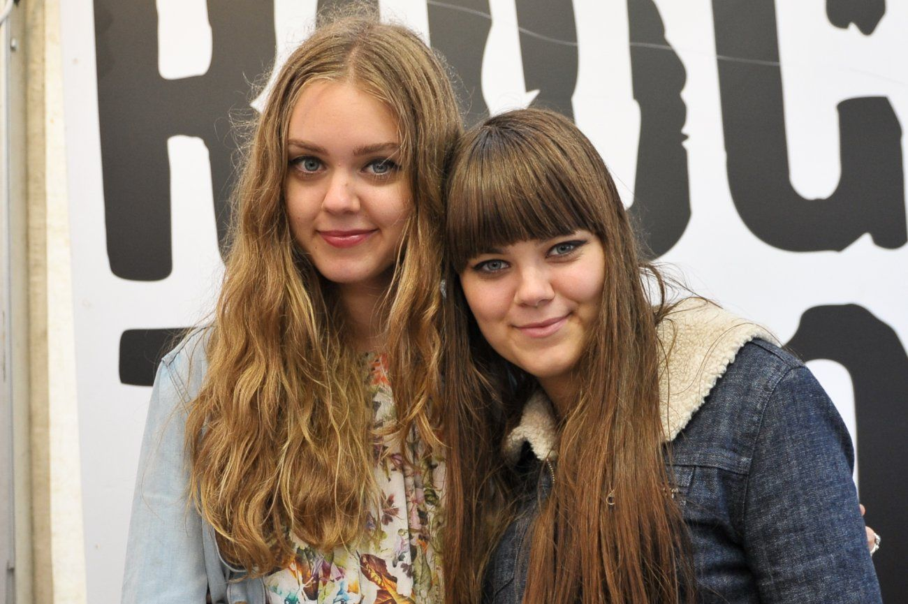 Johanna Soderberg and Klara Soderberg of the band First Aid Kit ...