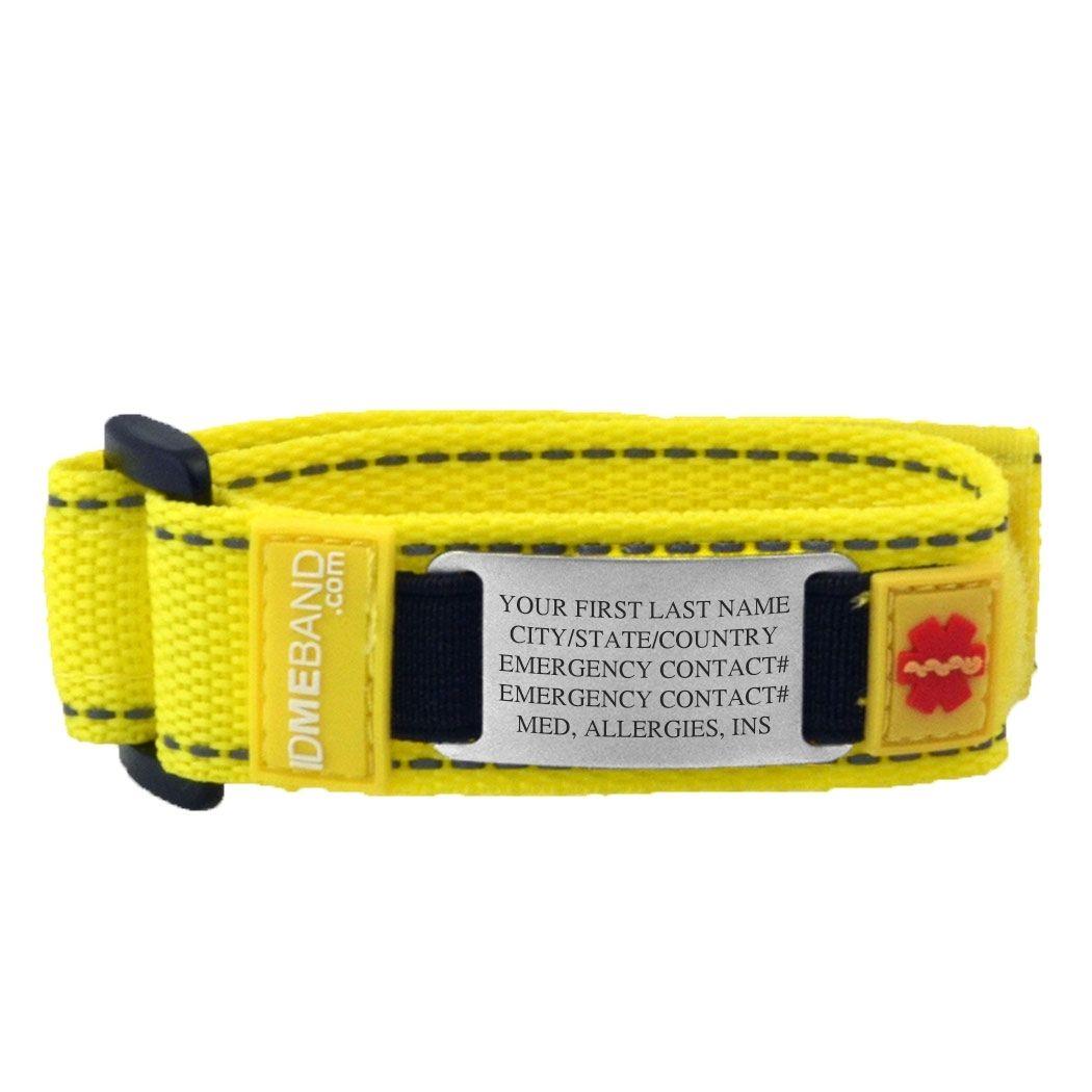 Idmeband Nylon Id Bracelet Gone For A Run