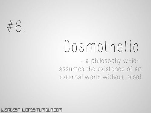 Cosmoethic Word Of The Day Words Philosophy