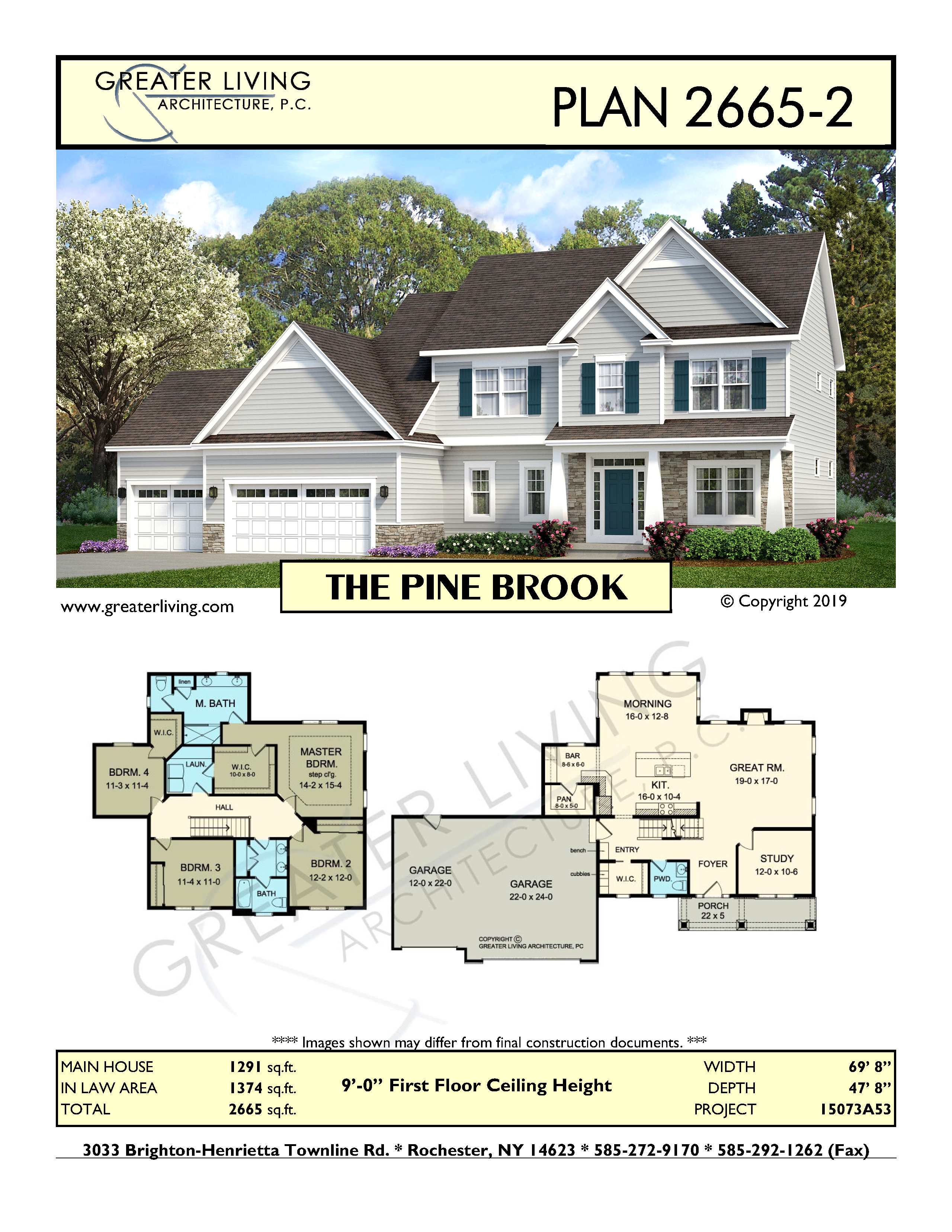Plan 2665 2 The Pine Brook New House Plans House Plans Maine House