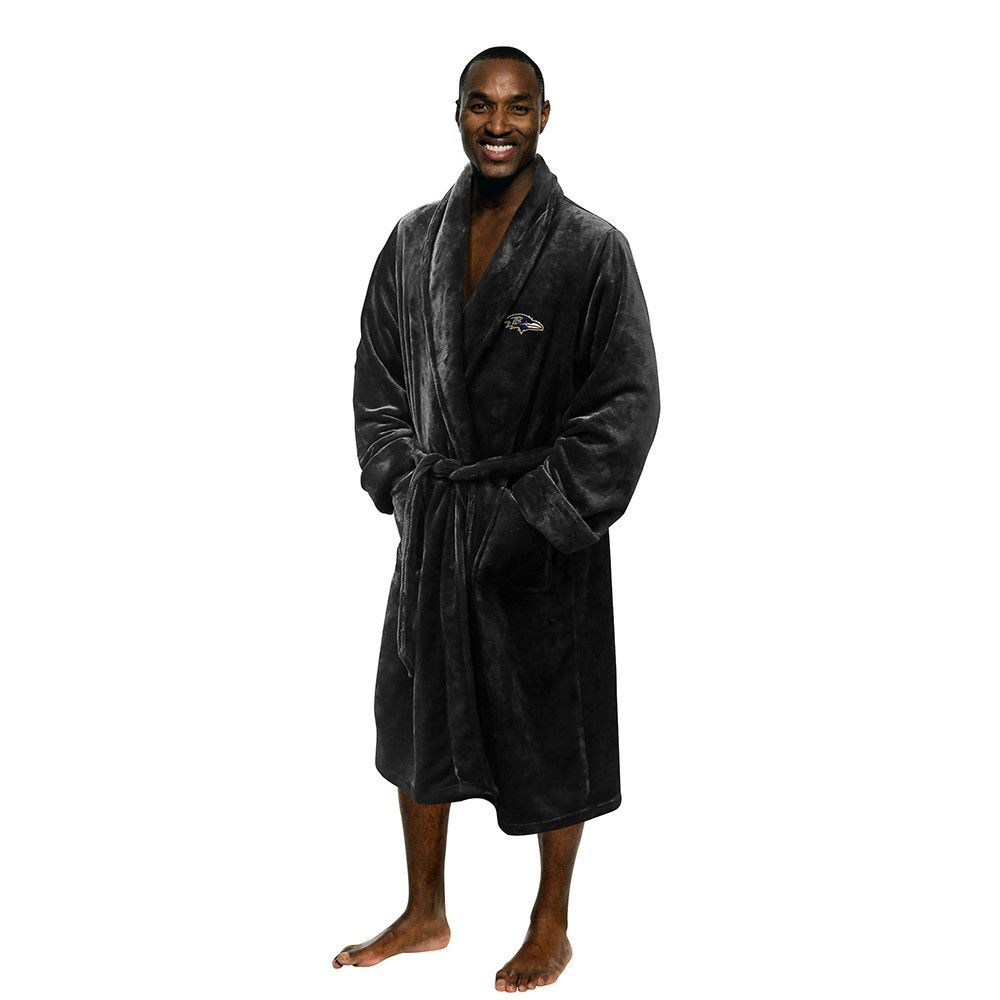 Baltimore Ravens NFL Men's Silk Touch Bath Robe (L/XL)