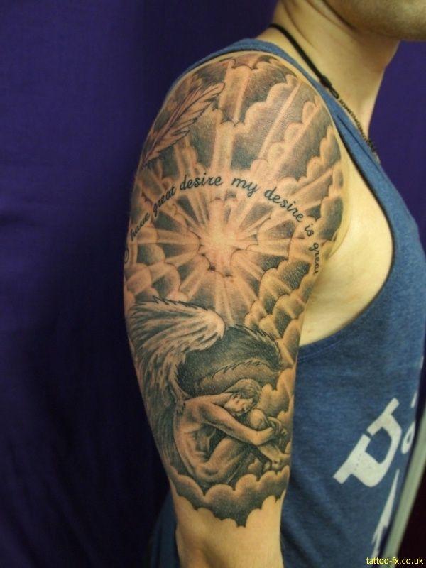 Half Sleeve Cloud Tattoos For Men Tattoo idea | a...
