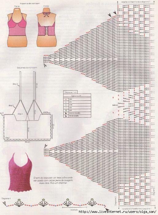 Pin de Perinawa Ituzaingo en Crochet Verano | Pinterest | Blusas ...