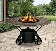 42 48 54 Solano Dining Height Pebble Granite Fire Pit Garden Treasures Fire Pit California Outdoor Outdoor Fire Pit