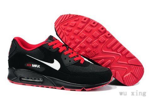 air max 90 essential noire et rouge