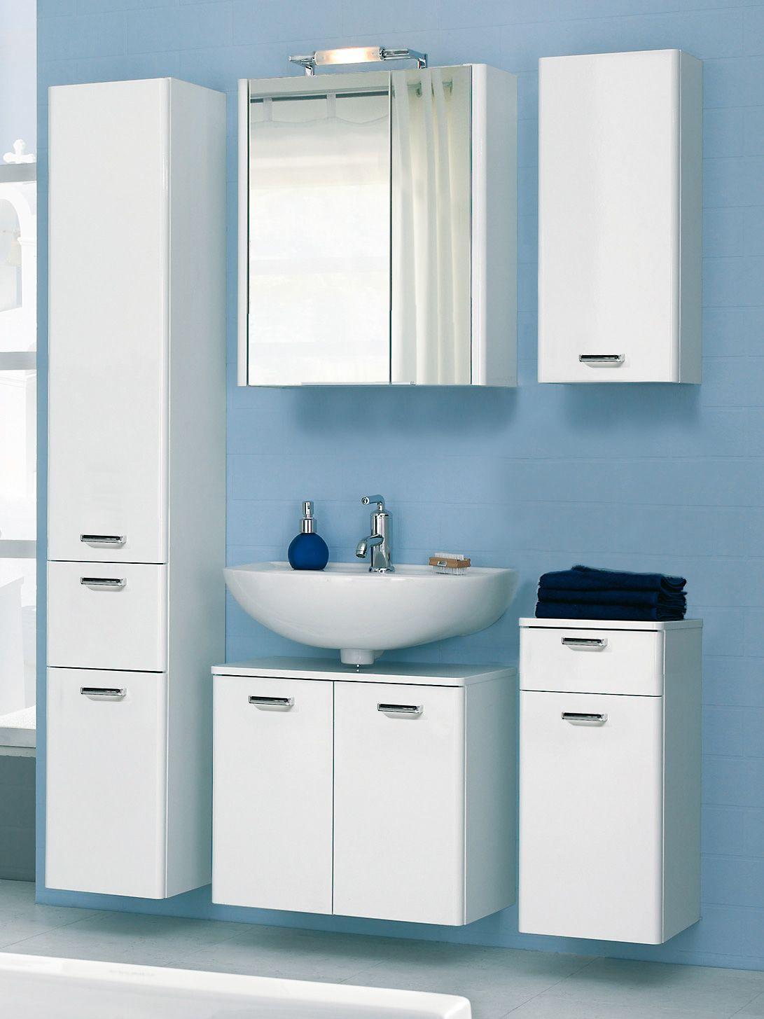 Badezimmerset Piolo Spiegelschrank Beleuchtung Unterschrank Und