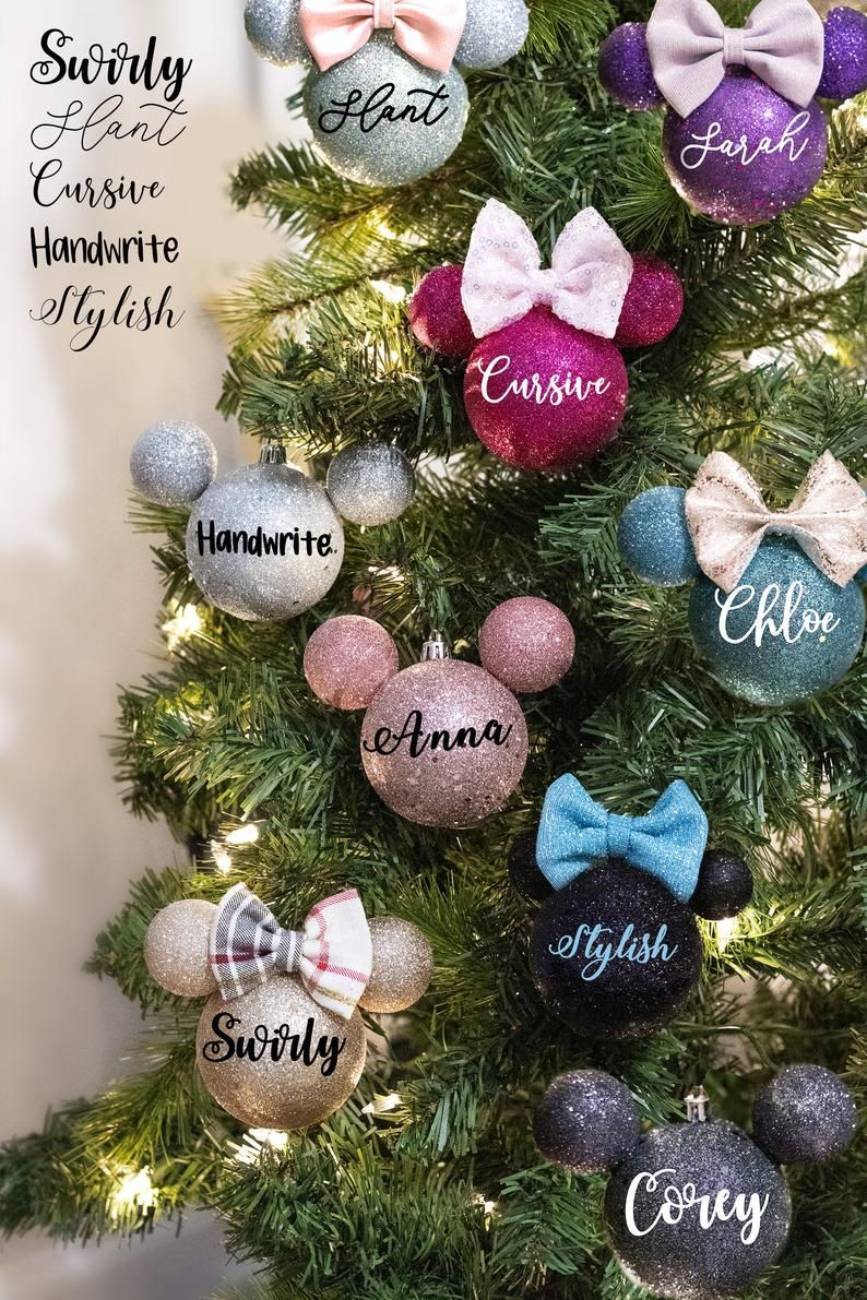 Personalized Silver Minnie Mouse Mickey Mouse Disney Etsy In 2020 Disney Christmas Ornaments Disney Christmas Crafts Disney Christmas Decorations