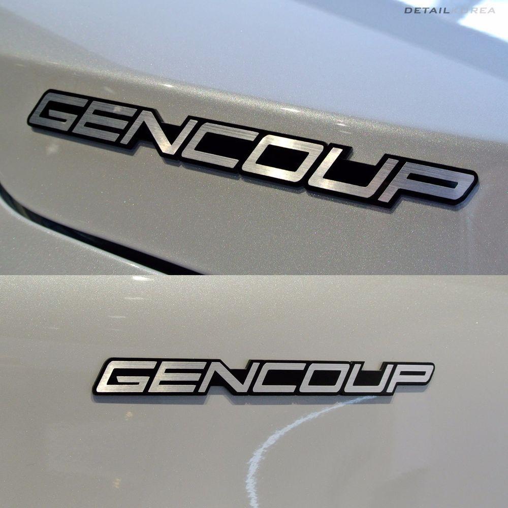 Detailkorea Gencoup Car Lettering Emblem B-Type Silver for Hyundai GENESIS COUPE #Detailkorea #Detailkorea #Car #Car_Emblem #Emblem #Lettering_Emblem #Hyundai #GENESIS_COUPE #Gencoup