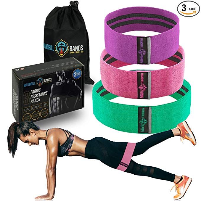 Telustyle Best Fitness Resistance Bands Set of 5 Simplify Exercise Workout Bands for Legs Arms Fit for Training Pilates Powerlifting Stretching Physical Therapy Yoga Rehab and Home Fitness