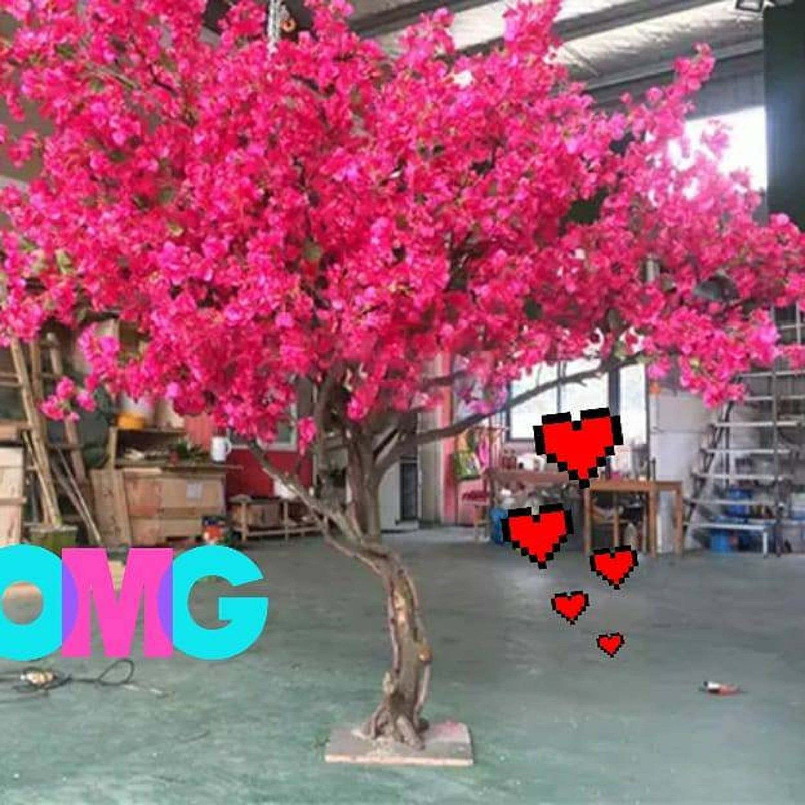 Artificial Faux Cherry Blossom Trees Peony Rose Arches Etsy Cherry Blossom Tree Blossom Trees Wedding Tree Decorations