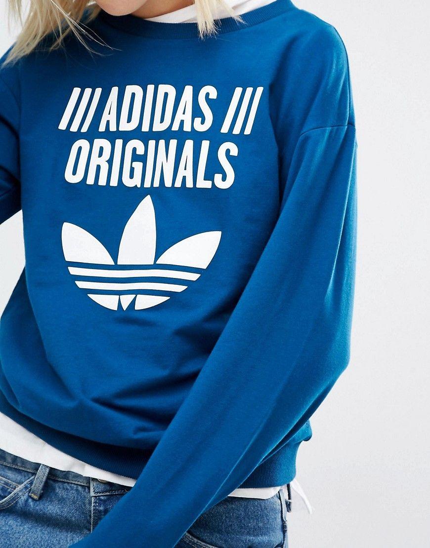 Immagine 3 Di Adidas Originali Felpa Con Trifoglio Logo Vestiti
