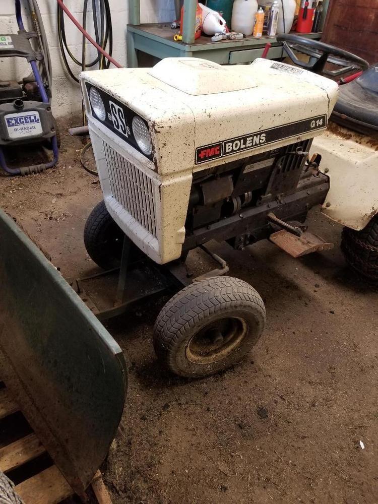 FMC Bolens G-14 Model 1453 Lawn Tractor with Blade #Bolens