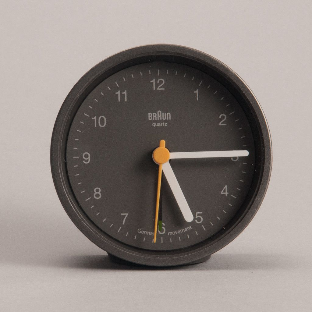 The Round Braun Clock Is Perfect Example Of An Updated Classic It S Best Way To Accurately Describe This Timepiece Original Design By Ter