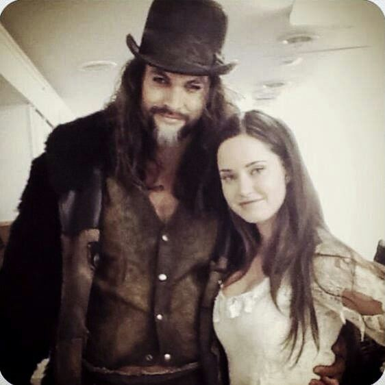"Jason Momoa And Merritt Patterson On Set Of ""Wolves""- 2014"