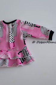 Baby Bornille body, peplum, frillamekko ja housut (sisältää kaavat!)