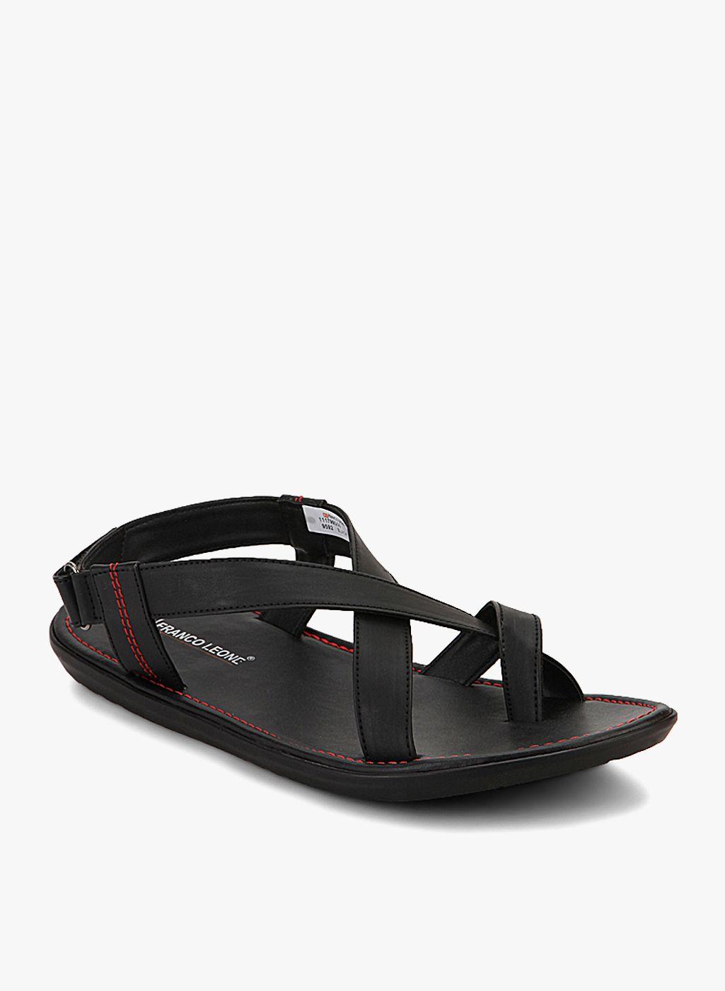 Buy Franco Leone Black Sandals for Men Online India, Best Prices, Reviews |  FR057SH80JBFINDFAS. Sandali NeriSabbiePantofole