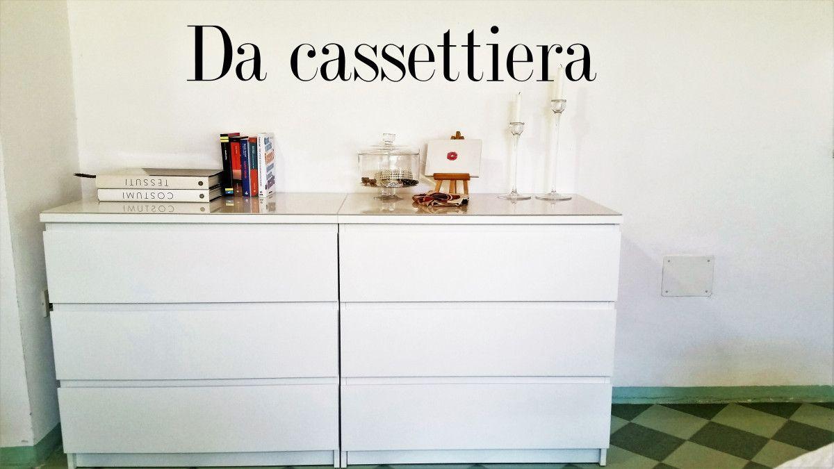 Malm Cassettiera 2 Cassetti.Da Cassettiera A Scrivania In 5 Minuti Scrivania Scrivania Ikea