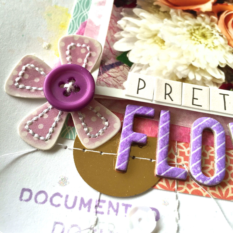 Scrapbook ideas with flowers - Pretty Flowers Scrapbook Com