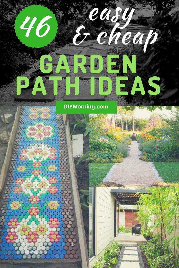 Photo of 46+ Easy & Cheap Garden Path Ideas For Your Beautiful Garden