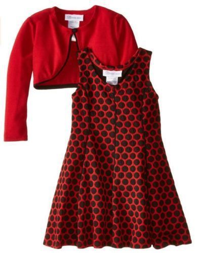 89e3be1dd Details about Bonnie Jean Girls Red Valentine Party Holiday Dress ...