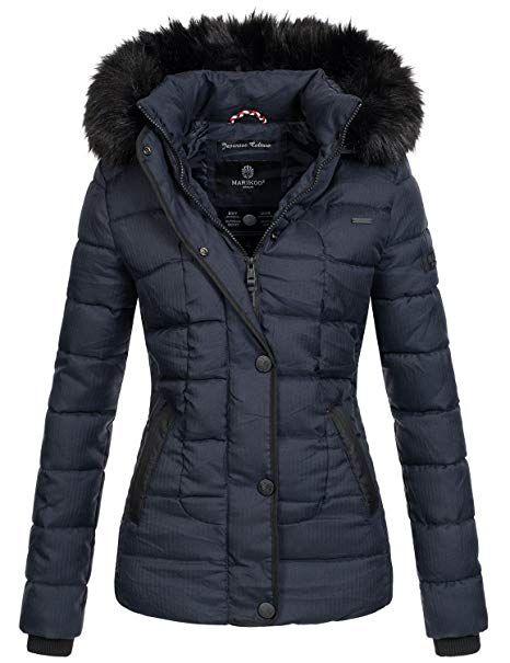 Marikoo warme Damen Winter Jacke Steppjacke Winterjacke