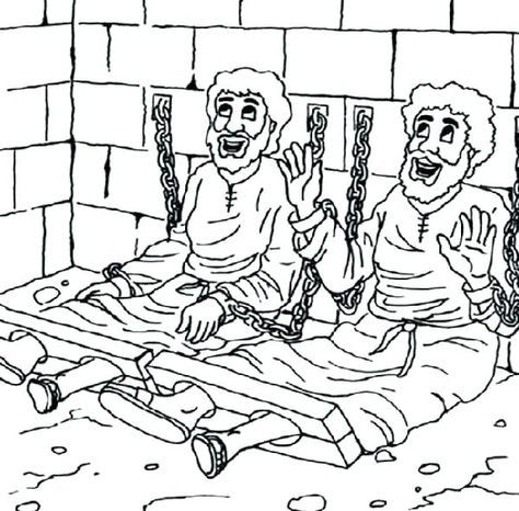 paul and silas bible coloring pages page in jail free