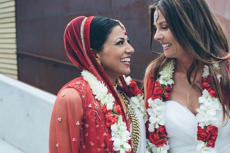 Beautiful moments from India's first Hindu lesbian marriage in the US. #wedding #trends #indianbride