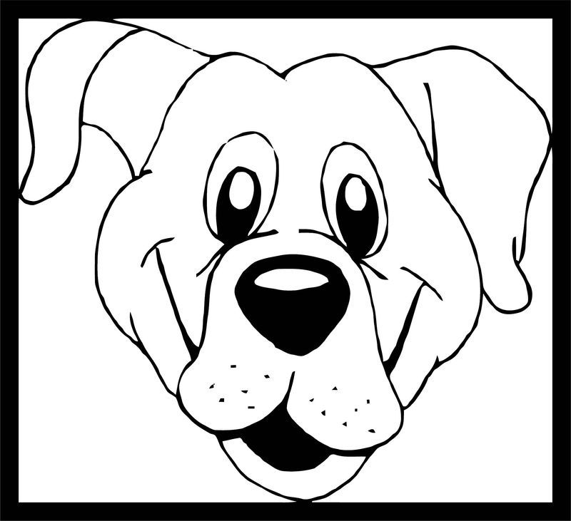 Dog Coloring Pages 199 Dog Template Animal Templates Animal Coloring Pages